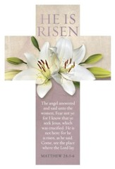 He Is Not Here, For He Is Risen Easter Cross Design Bookmarks, 25