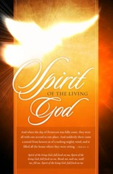 Spirit Of The Living God (Acts 2:1-2, KJV) Bulletins, 100