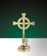Brass Celtic Altar Cross