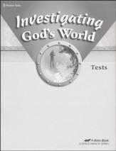 Investigating God's World Tests, Fourth Edition