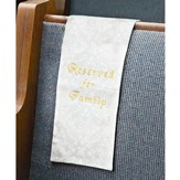 Embroidered Jacquard Family Reserve Cloth, White, Set of 4