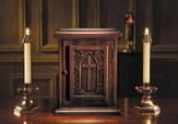 Hardwood Maple Tabernacle with IHS Cross