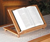 Adjustable Wood Bible Stand, Pecan Finish