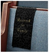 Embroidered Jacquard Family Reserve Cloth, Black, Set of 4