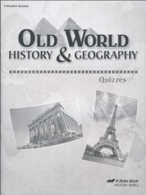 Abeka Old World History & Geography Quizzes