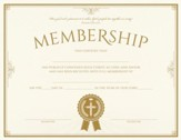 Membership (Psalm 133:1, NIV) Foil Embossed Certificates, Pack of 6