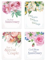 Two Hearts One Love (NIV) Box of 12 Anniversary Cards