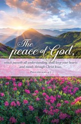 The Peace of God (Philippians 4:7) Bulletins, 100
