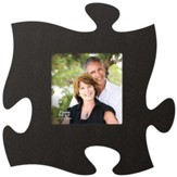 Puzzle Piece Photo Frame, Black