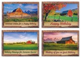 Barn Country Blessings (KJV) Box of 12 Birthday Cards