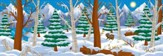 Operation Arctic VBS: Mountains Scene Setter (8 panels) (21' x 7')