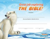 Operation Arctic VBS: Completion Certificate (pack of 10)