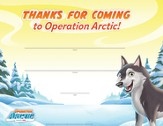 Operation Arctic VBS: Visitor Certificate (pack of 10)