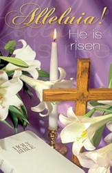 Alleluia! He is Risen Lilies Bible and Candle Bulletins, 100