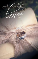 Everlasting Love Rings on Burlap (Jeremiah 31:3) Bulletins, 100