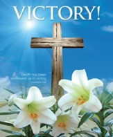 Victory! Cross and Lilies (1 Corinthians 15:54, NIV) Large Bulletins, 100