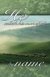 He Calleth His own Sheep by Name Pasture Scene (John 10:3, KJV) Bulletins, 100