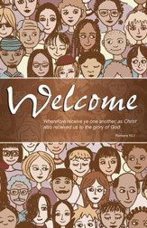 Welcome Crowd (Romans 15:7, KJV) Bulletins, 100
