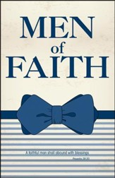 Men of Faith Bow Tie Art (Proverbs 28:20, KJV) Bulletins, 100