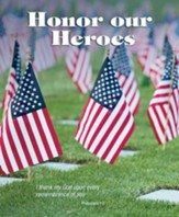 Honor our Heroes Cemetery with US Flags (Philippians 1:3, KJV) Large Bulletins, 100