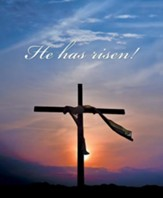 He Has Risen! Sunrise and Cross (Mark 16:6, KJV) Large Bulletins, 100