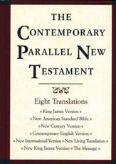 The Contemporary Parallel New  Testament with KJV, NIV, NKJV, NASB, and more!
