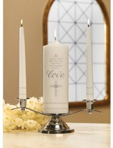 Faith, Hope & Love--Wedding Unity Candle Set