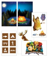 Camp Out Giant Decorating Poster Pack  (set of 6 posters, 3' X 6')