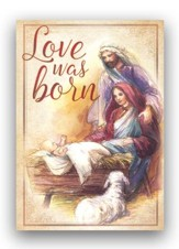 Love Was Born, Box of 12 Christmas Cards (KJV)