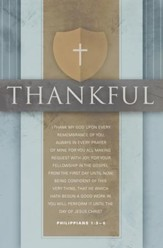 I Thank My God (Philippians 1:3-6, KJV) Bulletins, 100