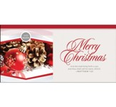 We Believe Merry Christmas (Matthew 1:21, KJV) Offering Envelopes, 100