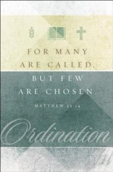 Ordination (Matthew 22:14, KJV) Bulletins, 100