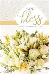 God Bless Our Wedding Day Yellow Roses Bulletins, 100