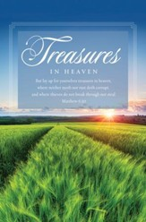 Treasures (Matthew 6:20, KJV) Bulletins, 100