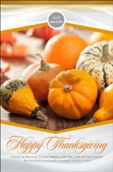 We Believe Happy Thanksgiving (Psalm 106:1 KJV) Bulletins, 100