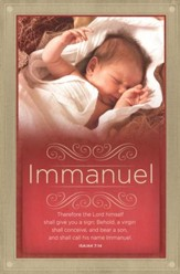 Shall Call His Name Immanuel (Isaiah 7:14, KJV) Christmas Bulletins, 100
