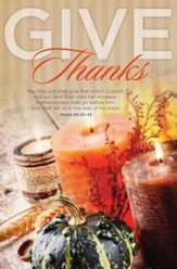 Give Thanks (Psalm 85:12-13, KJV) Bulletins, 100