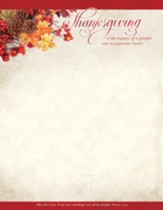 Thanksgiving is the Response (Psalm 103:2, KJV) Letterhead, 100