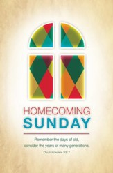 Homecoming Sunday (Deuteronomy 32:7, KJV) Bulletins, 100