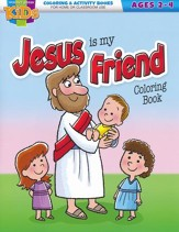 Jesus Is My Friend Coloring Book--Ages 2 to 4