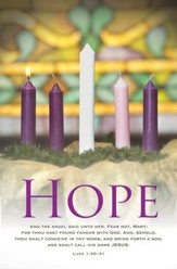 Hope (Luke 1:30-31, KJV) Bulletins, 100