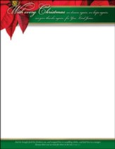 With Every Christmas...(Luke 2:7, KJV) Letterhead, 100