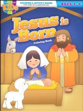 Jesus Is Born Coloring Book--Ages 2 to 4
