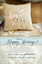 For a Happy Marriage (Colossians 3:12-14, NIV) Bulletins, 100