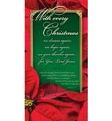 With Every Christmas...(Luke 2:7, KJV) Offering Envelopes, 100