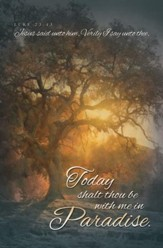 Today Shalt Thou Be With Me (Luke 23:43, KJV) Bulletins, 100