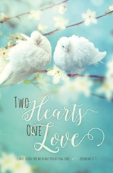 Two Hearts One Love (Jeremiah 31:3, KJV) Bulletins, 100