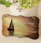 Journey, For I Know the Plans Mounted Print Plaque