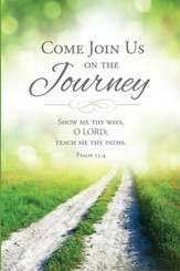 Come Join Us on the Journey (Psalm 25:4) Pack of 12 Folders