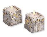 City of Jerusalem, Silver Pair of Candleholders